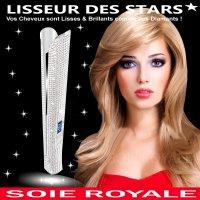 Lisseur Titanium en Strass des Stars Soie Royale BIO Cure Soyeuse